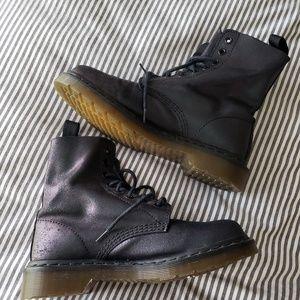 DR. MARTEN Black Iridescent Oilslick Boots